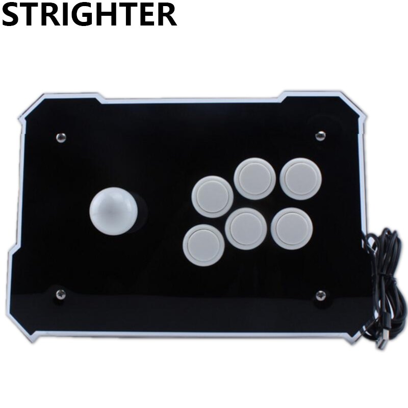 Black Arcade Joystick Pc Controller Computer Game Joystick Usb Connector New King of Fighters Joystick Consoles pandora s box arcade joystick for ps3 controller computer game arcade sticks new street fighters joystick consoles
