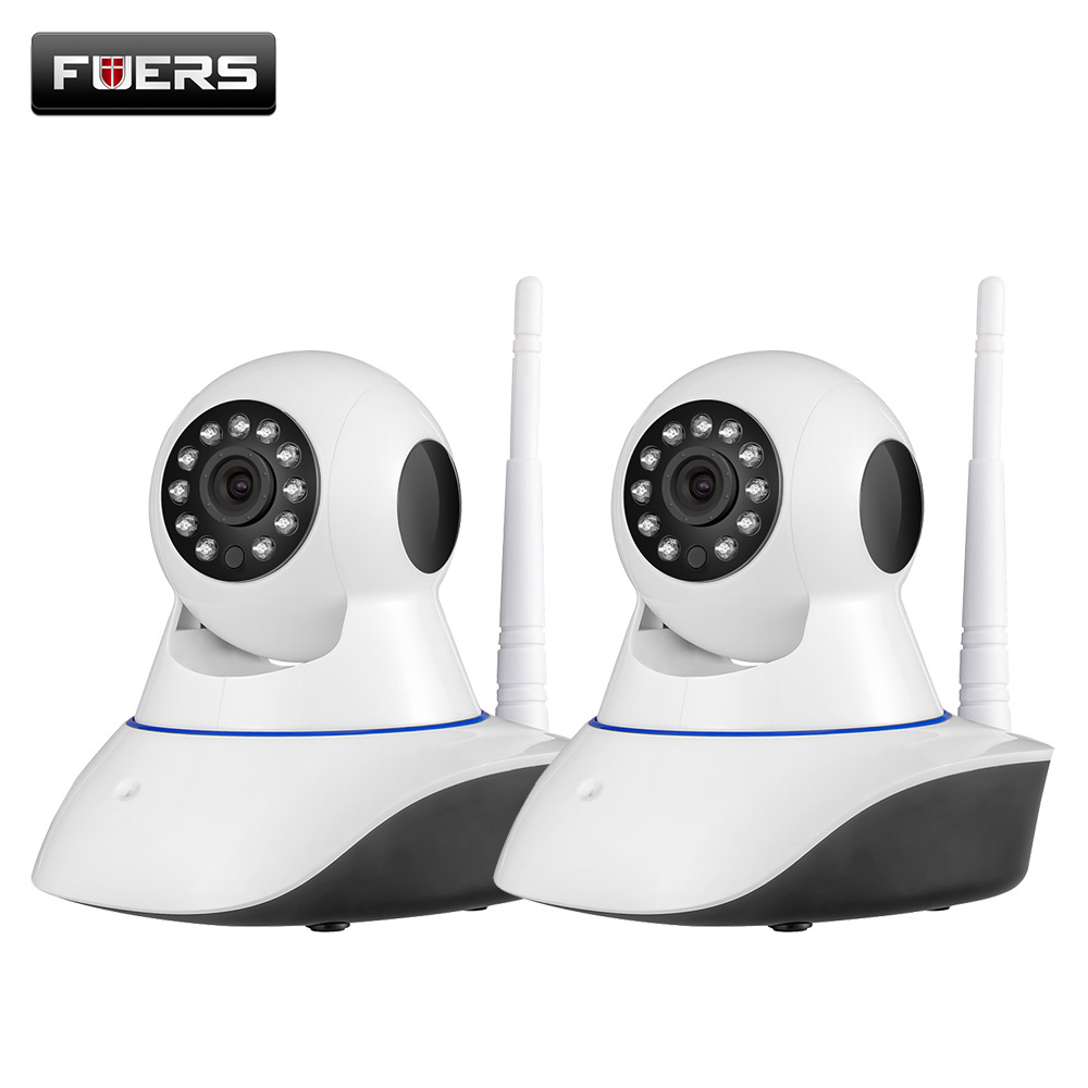 Fuers 2PCS 2MP 1080P Full HD Indoor Wireless Home Security WiFi Surveillance IP Camera Night Vision Support 64GB TF Card fuers 4pcs 3 6mm 2mp 1080p full hd home security indoor wireless wifi surveillance ip camera baby monitor with night vision
