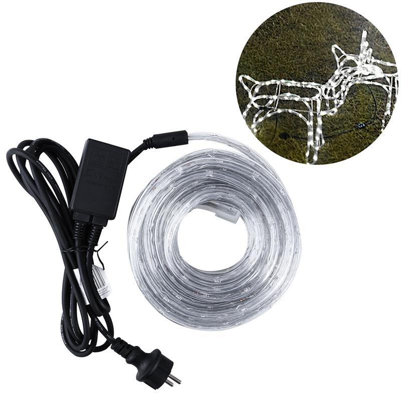 240 Lamps Neon Light With 8 Modes Led Fairy String Lights For House Garden Holiday Christmas Party Decoration With EU Plug plastic standing human skeleton life size for horror hunted house halloween decoration