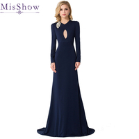 2018 New Mother of the Bride Dresses Long For Wedding Long Sleeve Satin Vestido De Madrinha Customized Mother Prom Dress