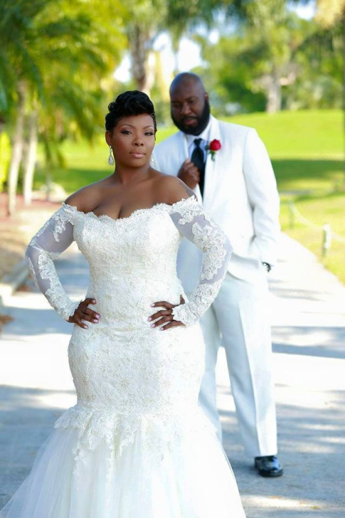 Vestidos 2017 africa plus size wedding dresses mermaid for Plus size african wedding dresses