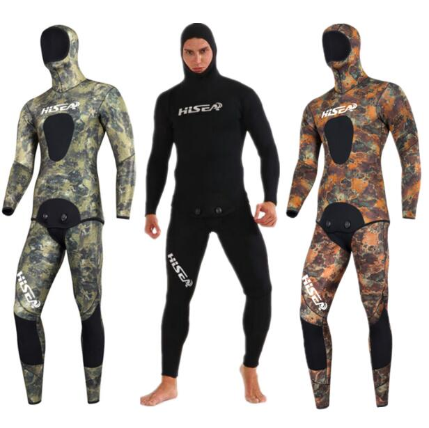 3 5mm fishing clothing winter camouflage free diving camouflage thick warm wet suit waterproof material imported