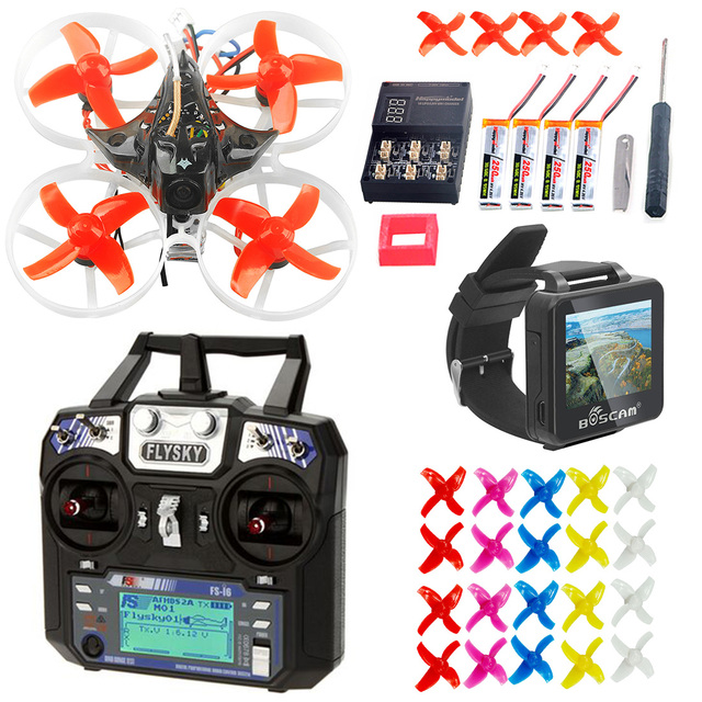 Full set Mobula7 75mm BWhoop Crazybee F3 Pro OSD 2S FPV Racing Drone Quadcopter with Flysky FS i6 TX BOS200RC FPV Watch