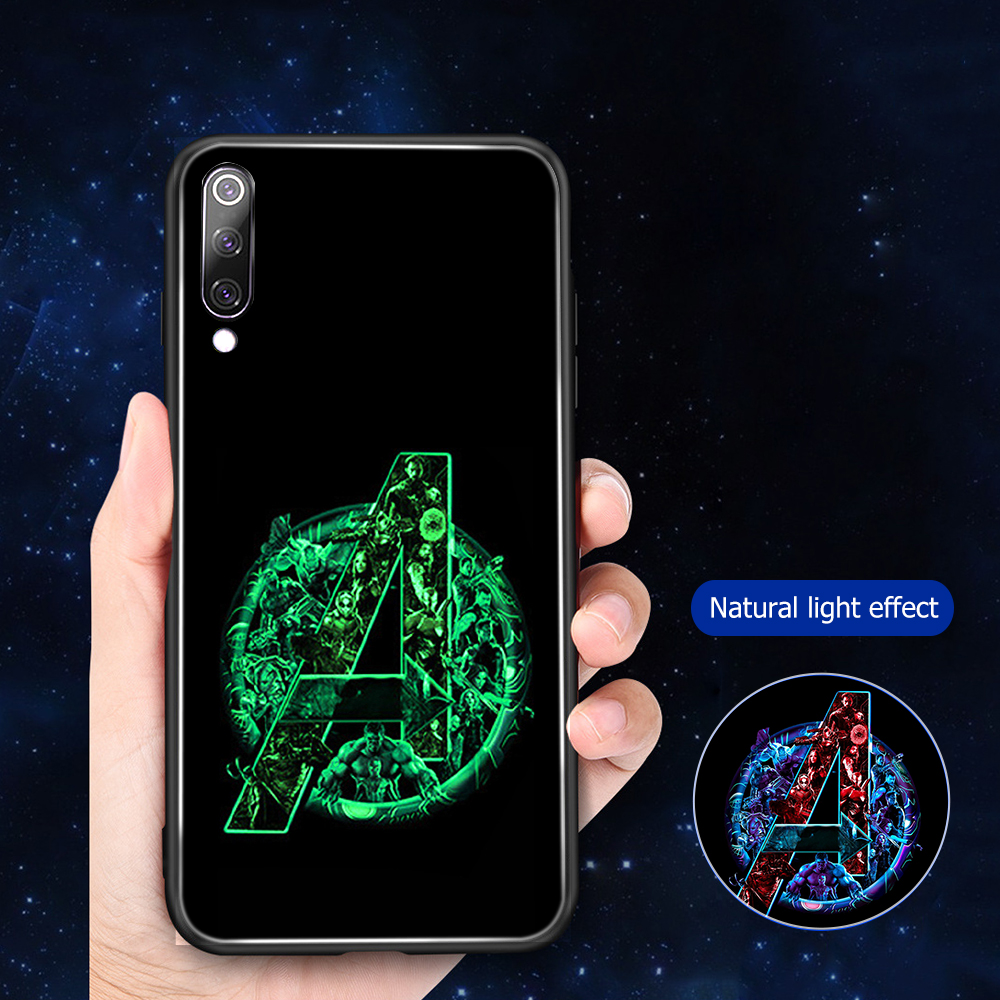 Image 4 - ciciber Marvel iron Man For Xiaomi MI 9 8 A2 6X T MIX 2 2S PocoPhone F1 Glass Phone Cases for Redmi Note 7 8 6 Pro Plus Cover-in Fitted Cases from Cellphones & Telecommunications