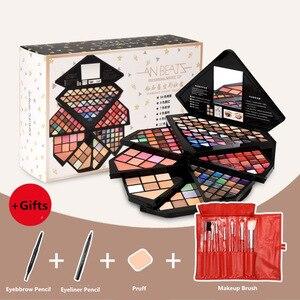 Image 5 - Новый брендовый бриллиантовый набор для макияжа, набор модной косметики, красивый подарок, пудра для ухода, консилер, волшебные брови, очаровательные тени для век
