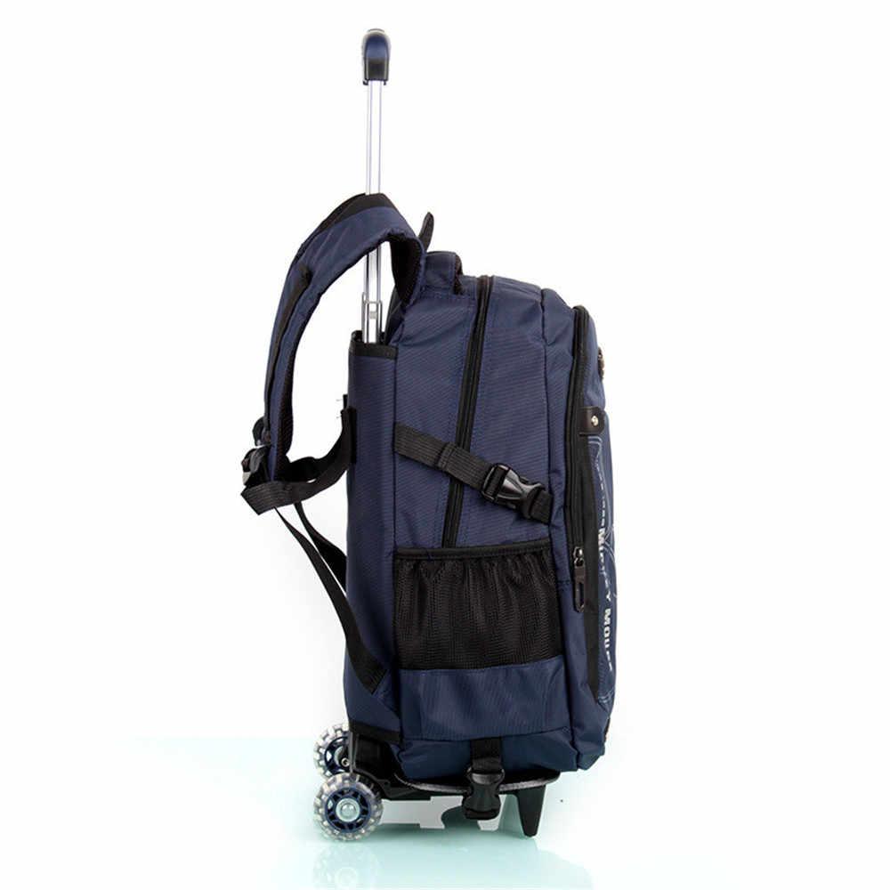 Детские школьные ранцы с 3/2 колёса съемный дети ребенок школьная сумка на колесах обувь для мальчиков девочек рюкзак на колесиках колесных Bookbag