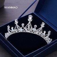 High-end bridal crystal crown tiara akcesoria ślubne suknia ślubna słodka księżniczka korony włosów hoop włosów akcesoria HD095