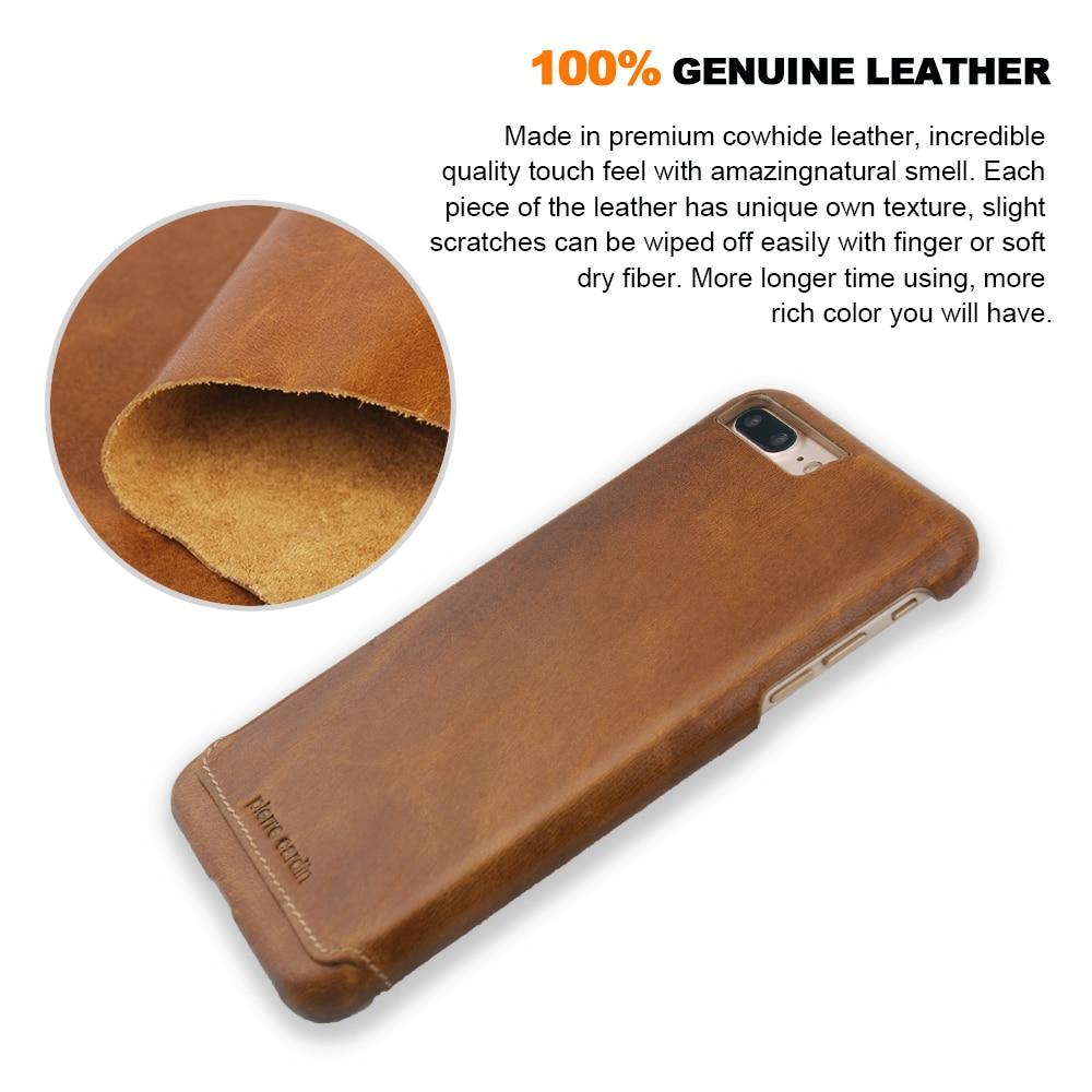 imágenes para Pierre Cardin originales Caso de la Marca de Lujo Genuino Cubierta de Cuero Para Apple iPhone 7/7 Plus Casos Ultra Thin de Nuevo Caso para el iphone 7