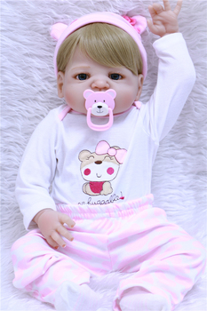 "Reborn babies girl dolls NPK 22"" Full body bebe silicone  dolls reborn for children gift can enter water bathe toy bonecas"