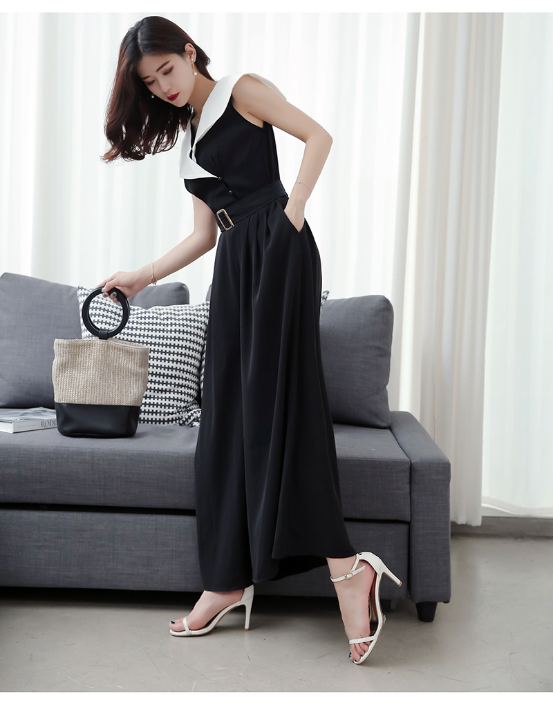 94b88dcb5d 2019 Rompers Womens Jumpsuit With Belt Office Style Black And White ...