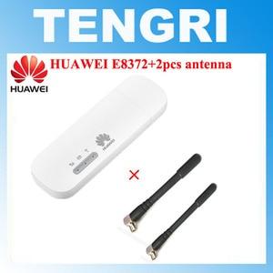 Unlocked Huawei E8372 E8372h-153 E8372h-608 with 2pcs Antenna 150M LTE USB Wingle LTE 4G USB WiFi Modem dongle car wifi PK E3372(China)