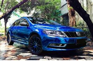 Image 5 - 7 tamanhos de alta stretchable azul escuro chrome espelho vinil envoltório azul escuro cromo espelho vinil folha filme adesivo do carro decalque folha