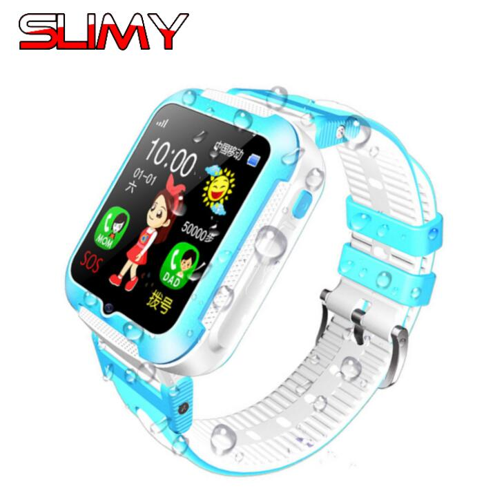 Slimy Waterproof GPS Smart Watch Kids E7 with Camera SOS Call Location Device Tracker for Kid Safe Anti-Lost Monitor PK Q90 V7K ...