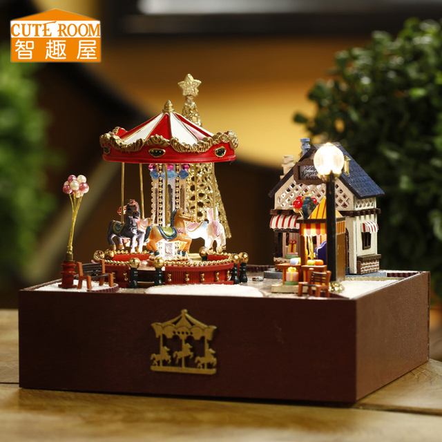 Assemble DIY Doll House Toy Wooden Miniatura Doll Houses Miniature Dollhouse toys With Furniture LED Lights Birthday Gift T020 1