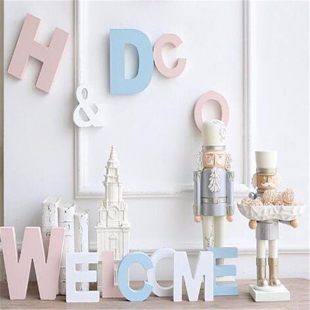 Diy Thick 12MM Wood Wooden Letters numbers White Alphabet Wedding Birthday Party Home Decorations Personalised Name Design 5