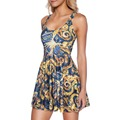 NEW 1174 Sexy Girl Women Summer Doctor Who 5 the pandorica opens 3D Digital Prints Reversible Sleeveless Skater Pleated Dress