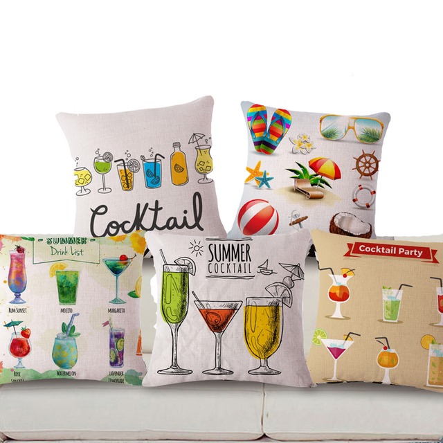 Genuine tbontb square 18 juice printed pillow covers decorative cocktail party cushion covers better than