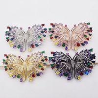 wow!butterfly multicolor zircon brooch nature wholesale FPPJ