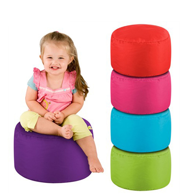 FREE SHIPPING 50*30cm Kids Beanbag Stool Cover Children Round Bean Bag Chair  Cushion Via