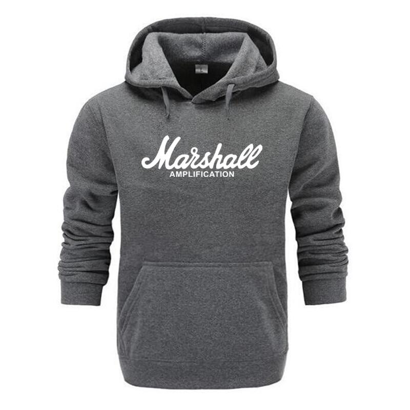 2019 New Spring Autumn Marshall Hoodie Men Amplification Hoodies Mens Slim Hooded Sweatshirt Hip Hop Brand Streetwear Clothes