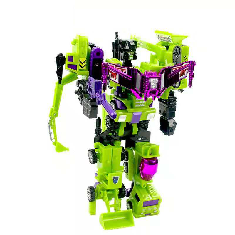 Deformation Truck Robot Transformation Toy Sets Engineering Truck Mode Action Figure Toys Gift,6 IN 1
