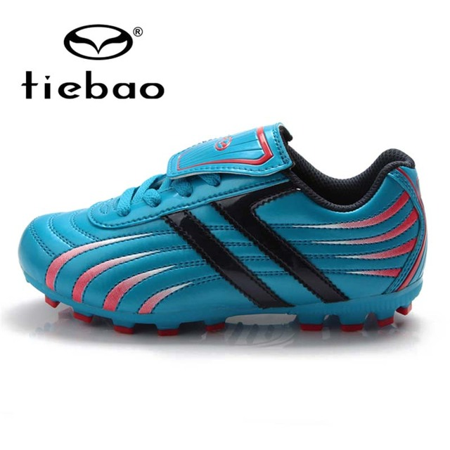 TIEBAO Children Kids Football Boots FG & HG & AG & S Soles Soccer Cleats Football Shoes Boys Outdoor Sports Training Sneakers
