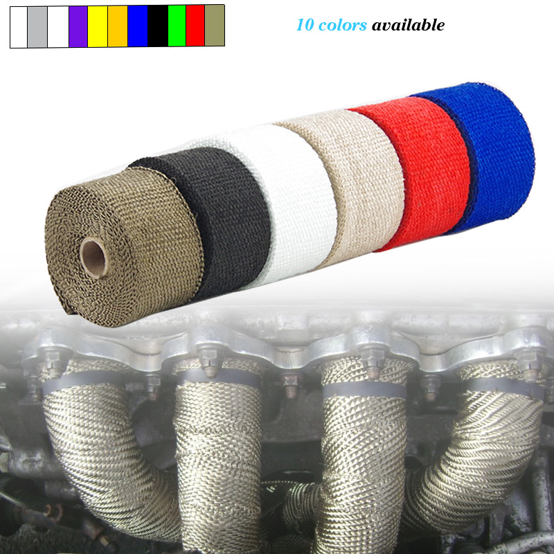5M motorcycle exhaust bande thermique echappement pipe escape de motocicleta exhaust wrap heat wrap thermal exhaust tape(China)