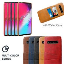 цены на for Samsung S10 5G Case PU Leather Back PC Cover Protective Shell for Samsung Galaxy A80 A60 A20e Note 10 Plus Case Card Holder  в интернет-магазинах