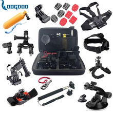 LoogDoo For 26-in-1 Gopro Accessories Set Chest Belt Head Mount Strap Suitable to Go pro Hero 5 4 3+ 2 1 xiaomi yi 2 camera GS32