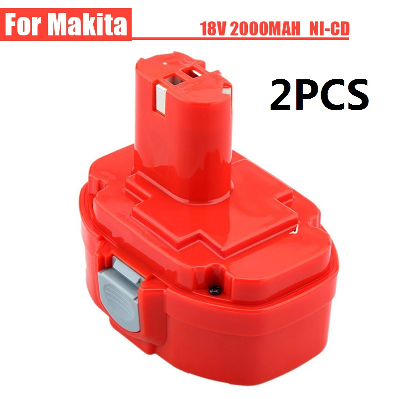 ФОТО 2PCS Ni-CD 18V 2000mAh Power Tools Rechargeable Drill Battery for Makita Cordless Drill PA18 1822 1823 1833