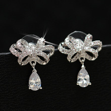 JEXXI Classical Water Drop Wedding Stud Earrings Romantic Engagement Weedding Earrings 925 Sterling Silver Jewelry(China)