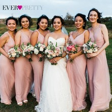 Bridesmaid Dresses Blush Sparkle Ever Pretty Wedding Pink Vestido New Madrinha Summer