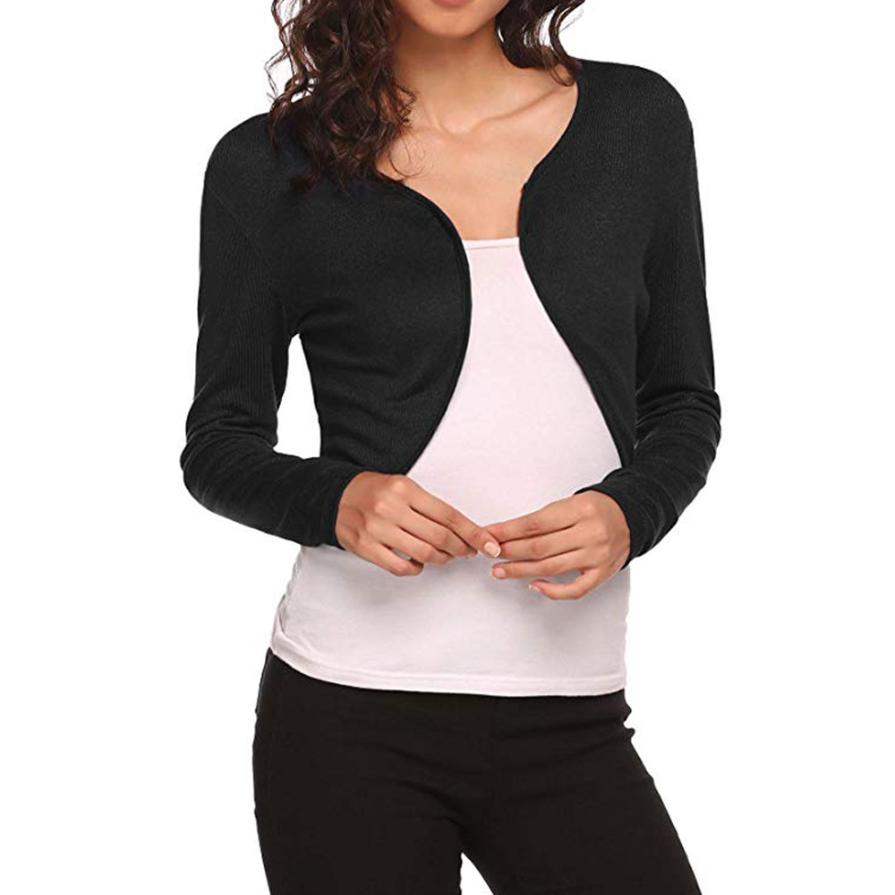 1x Women/'s Short Sleeve Open Front Modal Shrug Bolero