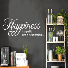 Cartoon Style Happiness Wall Sticker Vinyl Art Home Decor For Kids Rooms Home Decor Background Wall Art Decal Drop Shipping drop shipping theodore roosevelt quotes home decoration accessories for kids rooms home decor wall art decal