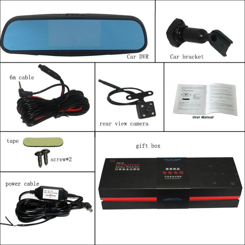 все цены на BigBigRoad Car Mirror DVR For chevrolet sail lova Video Recorder Dash Cam 5 inch Parking Monitor with Special Bracket