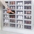 3 шт. складной пластиковый ящик для хранения обуви  прозрачная Складная хорошо складируемая коробка для обуви