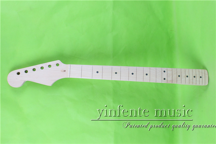 25.5  left   Electric guitar neck      maple  made Bolt on     maple  wood   fingerboard fine quality  22  fret  0035# one left unfinished electric bass guitar neck solid wood 22 fret new rosewood fingerboard maple made