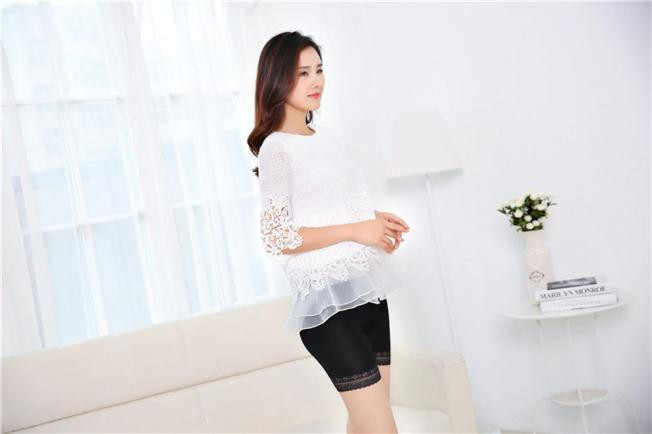 Feitong Plus Size kobiety bielizna bezpieczeństwa wysokiej jakości bezpieczeństwa krótkie spodnie w połowie talii koronki gorące spodenki elastyczne spodnie spodnie 3*0