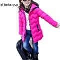 El bebe oso Niñas Niños Ropa de Abrigo Ropa de Niña de Algodón Acolchado de Invierno Con Capucha Capa Del Otoño Sólido Outwear Snowsuit XL538