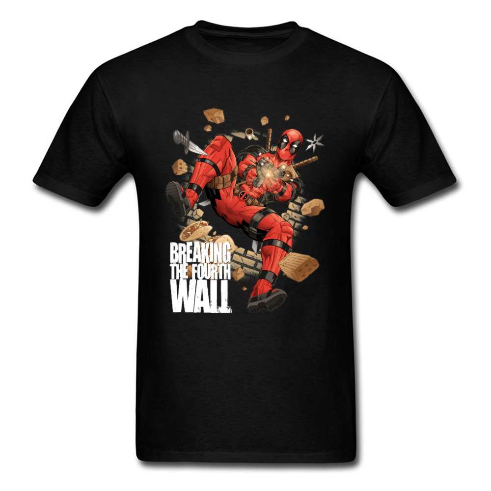 Mens Top T-shirts Breaking The Fourth Wall 1226 Design Tops T Shirt 100% Cotton O Neck Short Sleeve Custom T Shirt Labor Day Breaking The Fourth Wall 1226 black