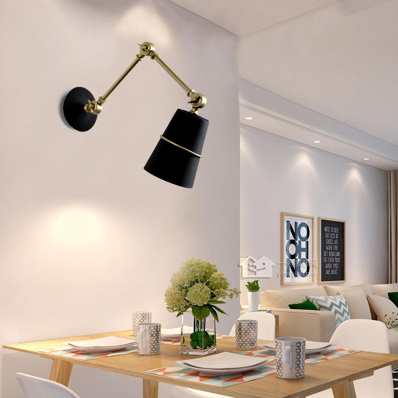 Indoor&outdoor sconce led wall lights e27 with flexible arm, surface mounted vintage wall lamp retro lighting fixtures 110V/220VIndoor&outdoor sconce led wall lights e27 with flexible arm, surface mounted vintage wall lamp retro lighting fixtures 110V/220V
