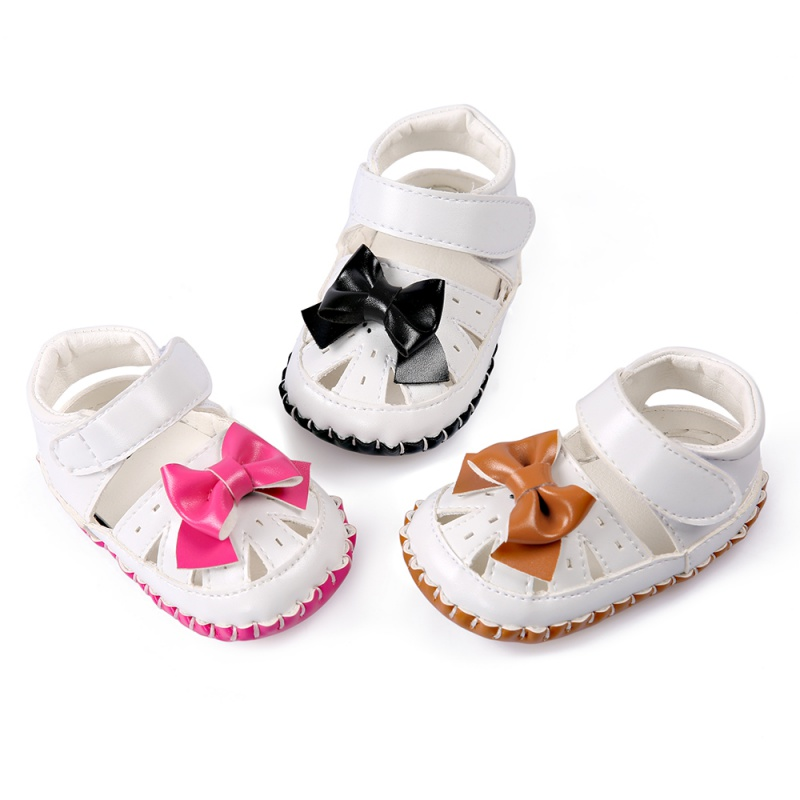 Children's Goods Store Baby Girls Summer Beach Toddler Hollow Out Breathable Bowknot Anti Slip Crib Stripe Kids Shoes Prewalkers Hot