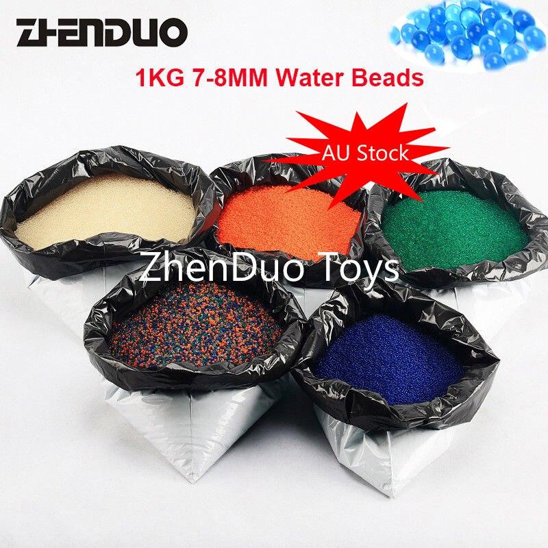 ZhenDuo jouets 1 KG/Lot 7-8mm couleur Gel boule d'eau perle cristal balle molle 5 couleurs pour jouet pistolet & décor maison livraison gratuite