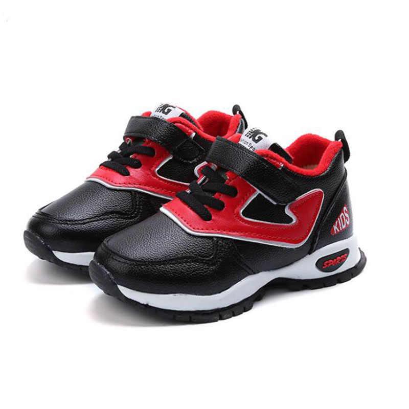 2019 Nieuwe jongens plus katoen sneakers meisjes Koreaanse mode plus kasjmier warme casual schoenen student loopschoenen