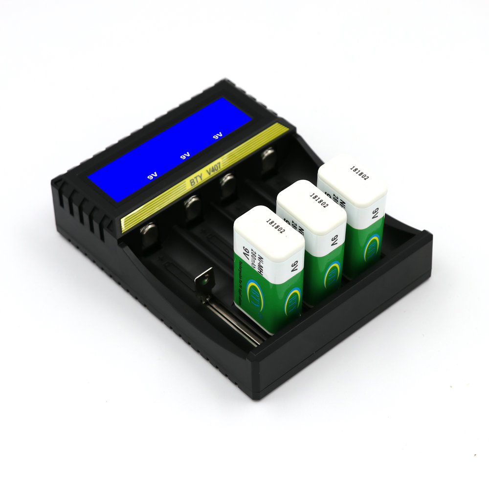 BTY-V407 Battery Charger Li-ion Li-fe Ni-MH Ni-CD Smart Fast Charger For 18650 26650 6F22 9V AA AAA 16340 14500 Battery Charger
