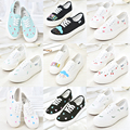 Women Casual Shoes Autumn New Arrival Shoes Woman Comfortable Canvas Hot Female Korean Casual Shoes Hand-Painted Lacing Shoe