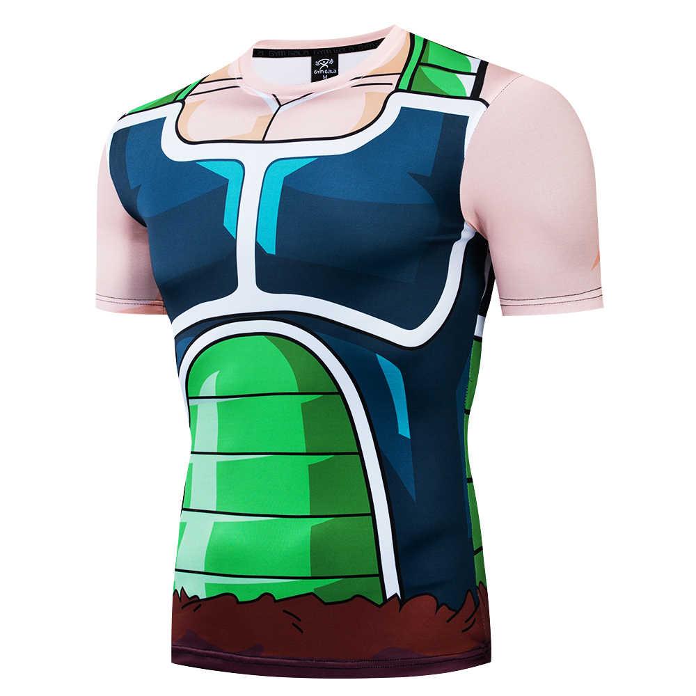 Новинка 2017, мужская мода, Гоку, драконий жемчуг, 3D принт, повседневная, короткий рукав, футболка для косплея, компрессионные футболки для фитнеса, для женщин