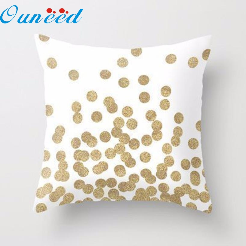 gold glitter dots square throw pillow case cushion cover home decor jan17china mainland - Gold Decorative Pillows