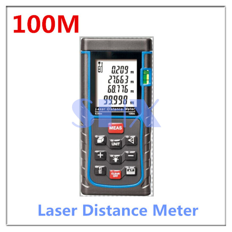 Laser Distance Meter 100M Laser Rangefinder Laser Range Finder Digital Tape infrared ruler Measure Area/volume Too free shipping kapro 810 clamp device laser infrared horizontal marking ruler