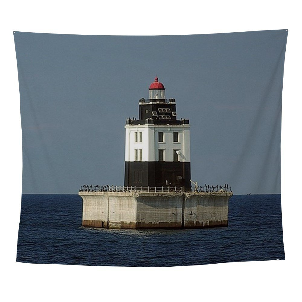 Poe Reef Light Wall Tapestry Beach Picnic Throw Rug Blanket Camping Tent Travel Mattress Sleeping Pad